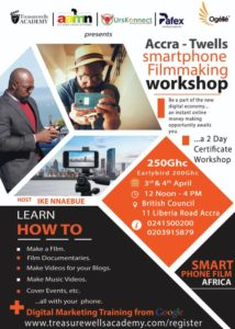 Accra Smartphone Video Making and Digital Marketing Skill Workshop