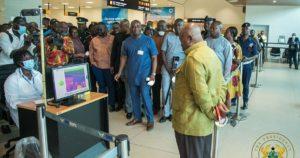 Ghana President Inspecting Facilities For Combating Corona virus