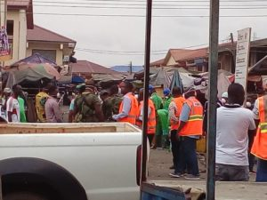 Ghana Disinfecting their Markets