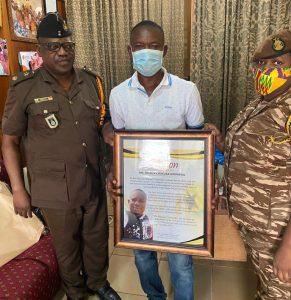Ghana Prison Authority Honours a worthy Nigerian