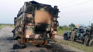 Scene of Nigerian army attacked by Boko Haram