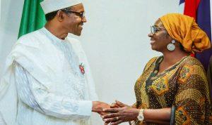 Senator Uche Ekwunife and President Buhari