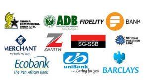 Commercial banks of Ghana logos