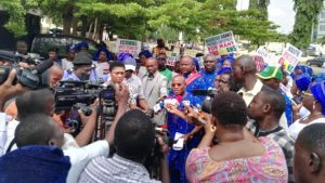 Nigerians Protest in Ghana