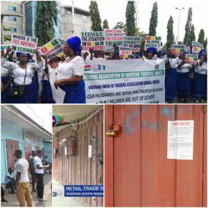 Tension in Ghana Market over locked Nigerian shops