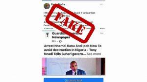Fake Guardian Facebook Page